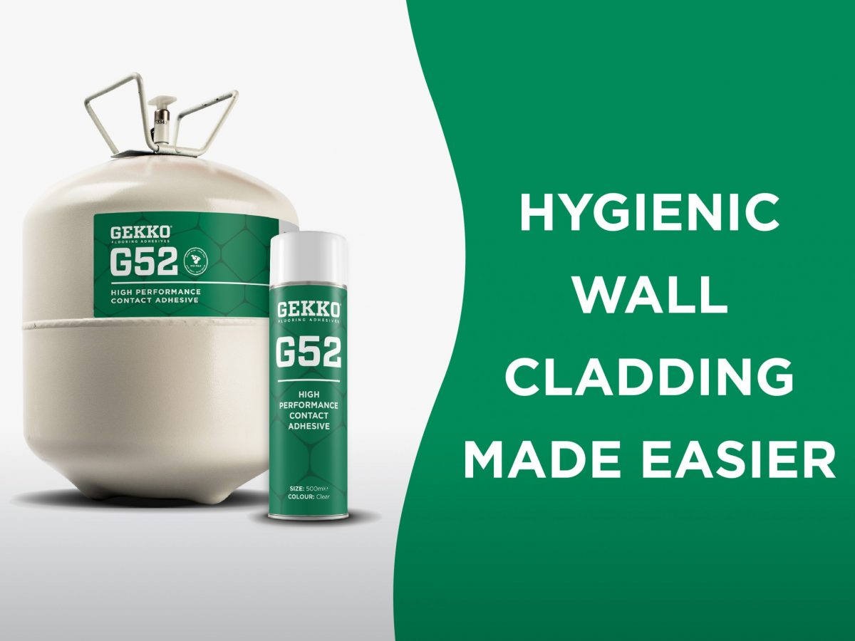 Gekko G52, Hygienic Wall Cladding Made Easier