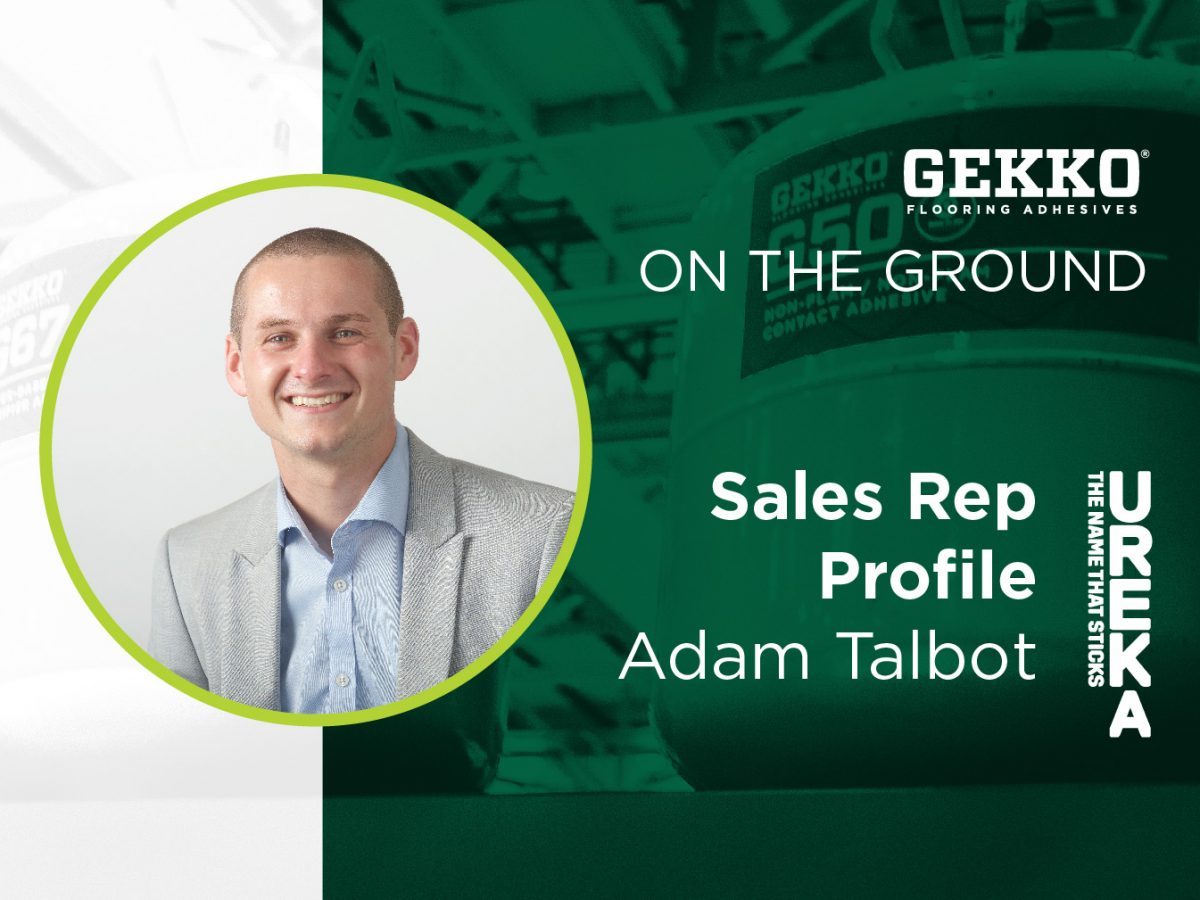 Branded Gekko image with a profile image of Ureka Technical Sales Manager, Adam Talbot.