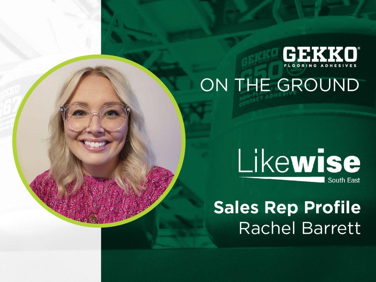 Branded Gekko image with a profile image of Ureka Technical Sales Manager, Rachel Barret.