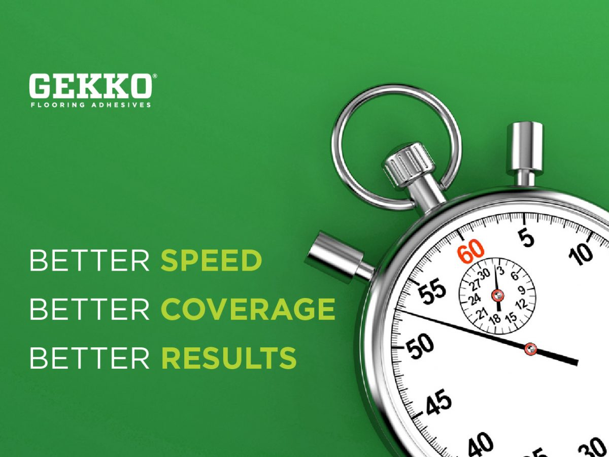 """A Gekko branded graphic featuring a timer. Copy states """"better speed, better coverage, better results."""" Blog banner size"""